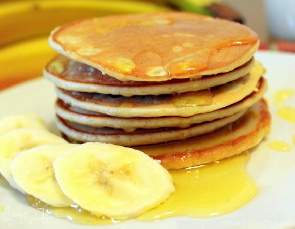 Тонкие банановые панкейки