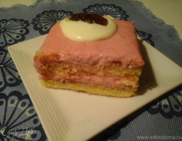 Торт с черникой и со сметаной