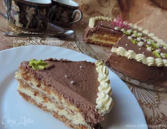 """Арахисовый торт """"Крещатик"""" (без муки)"""