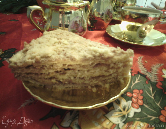 Торт с апельсиновый водой (fleur d'oranger) и орехами