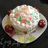 Праздничный фруктовый кекс