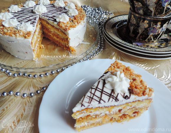 Карамельно-арахисовый торт