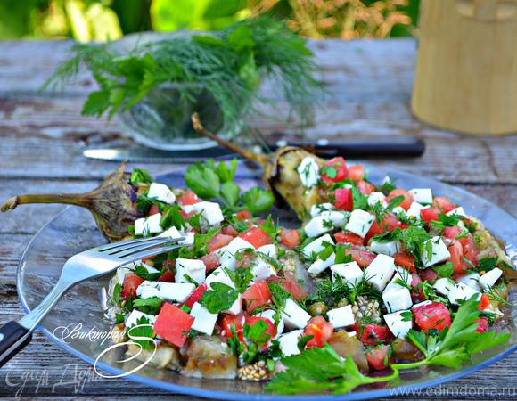 Закуска из баклажанов, приготовленная на гриле