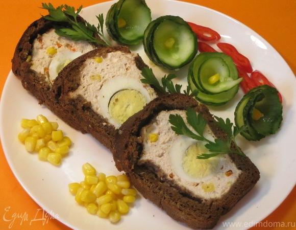 А-ля террин из сельди с бородинским хлебом – кулинарный рецепт