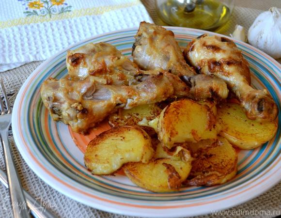 рецепт куриные ноги в духовке в