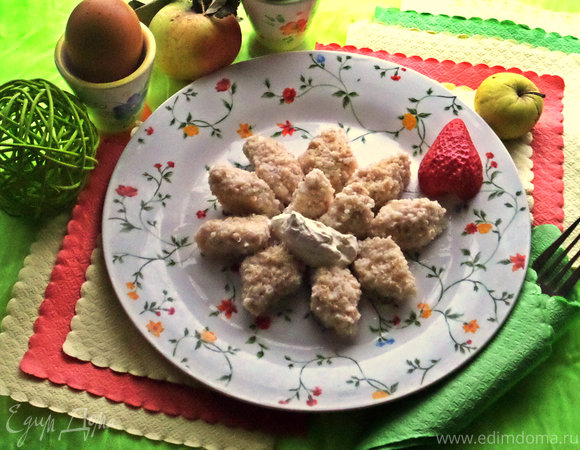 Яблочные вареники (без муки)