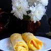 Лимонные блины с кокосово-лимонным кремом