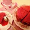 Розовые блинчики с грейпфрутом