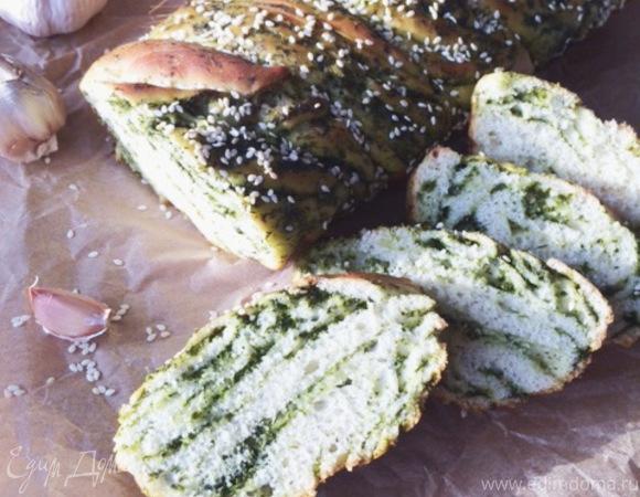 Хлеб с зеленью и чесноком (постный)