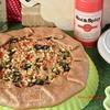 Постная галета с гречневой крупкой, сладким перцем и маслинами