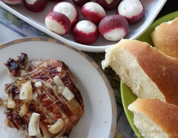 Шашлык из свинины в луковом соусе