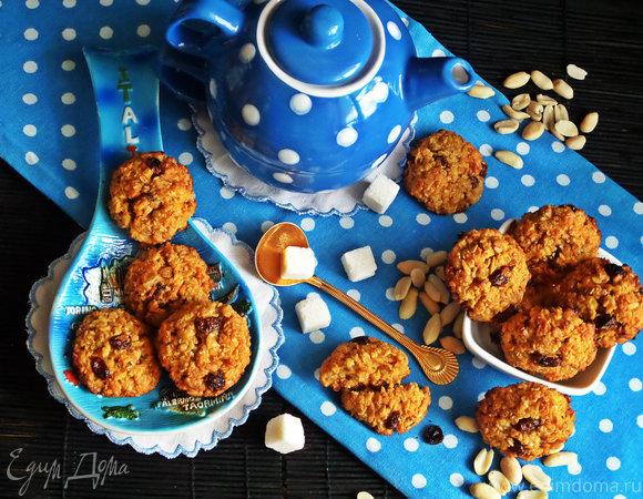 Морковно-овсяное печенье без муки