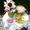 Летний цветочный чай для подруг