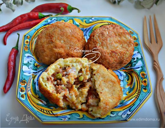 Сицилийские рисовые шарики «Аранчини»