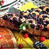 Муссовый творожно-черничный пирог