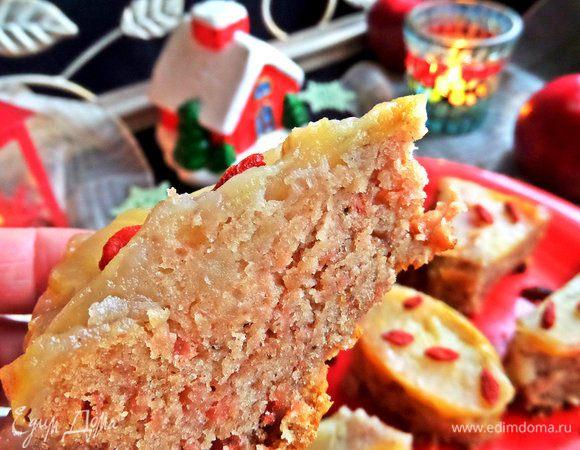 Пирог яблочный (без яиц)