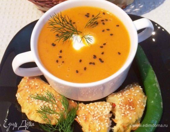 Суп-пюре из печеных перцев