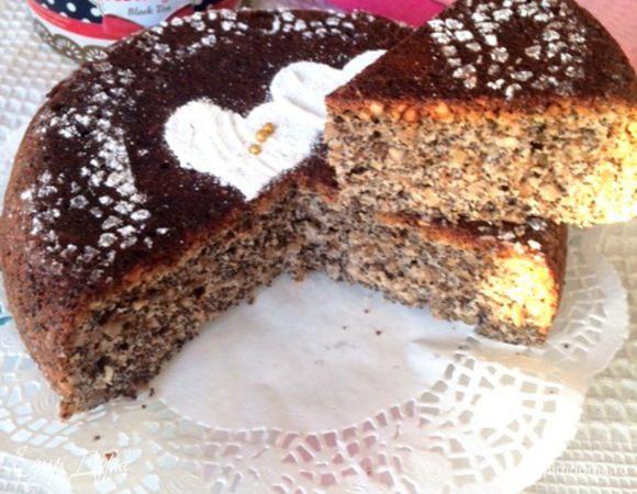 Маково-ореховый пирог в мультиварке