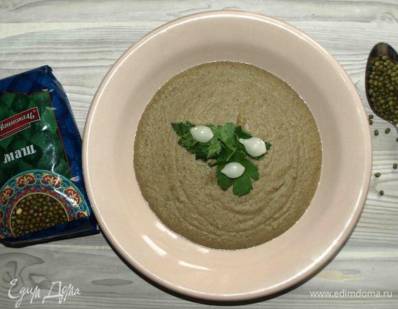 Суп-пюре из маша с орегано