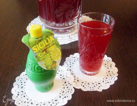Вишневый лимонад с лаймом
