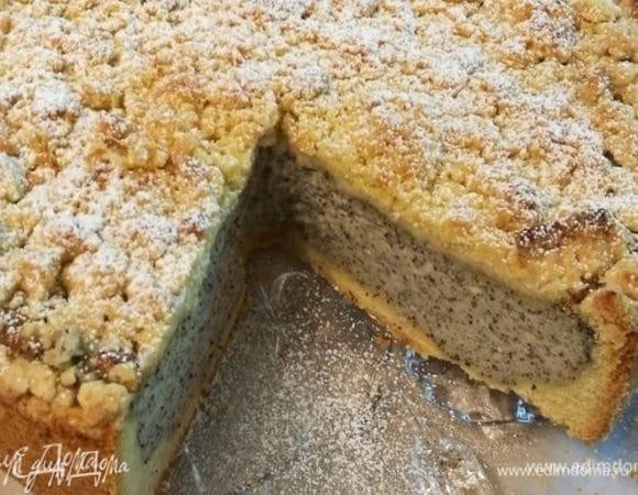 Сочный маковый пирог со штрейзелем