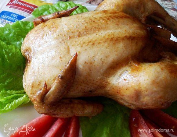 Курица, фаршированная рисом и шампиньонами