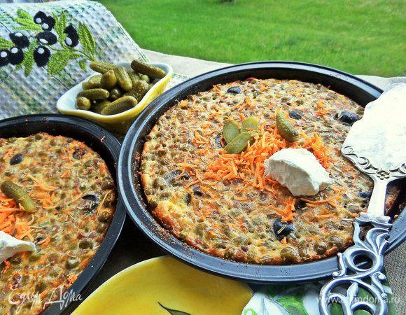 Омлеты с гречкой и маслинами