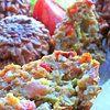 Несладкие кексы с кабачком и тыквой