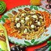 Печеночный салат с омлетом