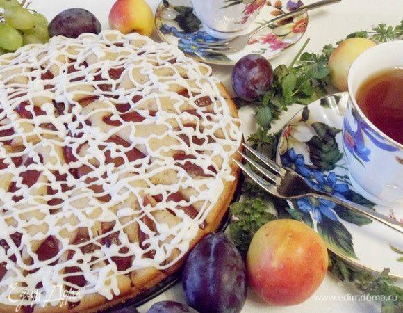 Домашний пирог со сливами