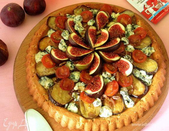 Баклажанный пирог с инжиром