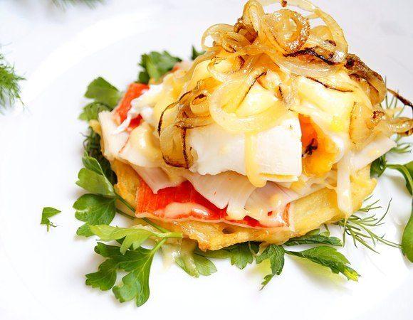 Картофельные рости с крабовыми палочками
