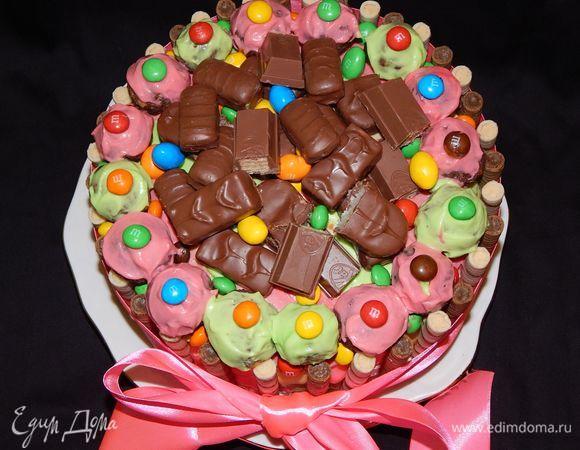 Шоколадно-тыквенный торт с бананом