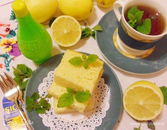Лимонно-мятное пирожное