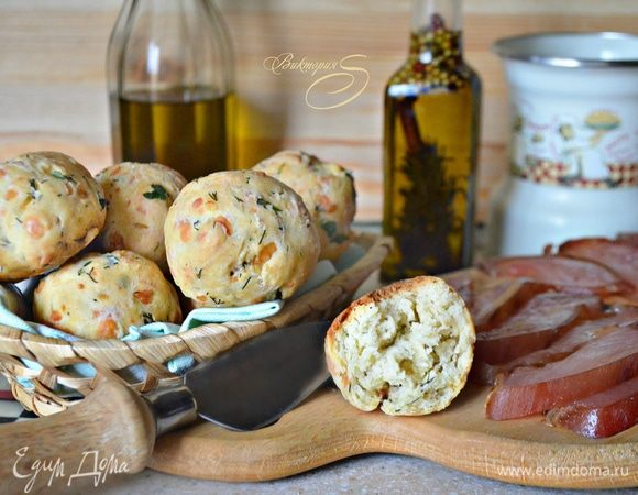 Закусочные булочки с сыром и зеленью