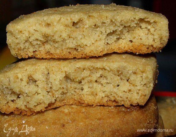Ванильное печенье с халвой