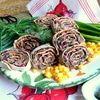Закуска из фасоли в лаваше «Сытная»