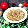 Фасолевый суп-пюре на основе ржаного хлеба