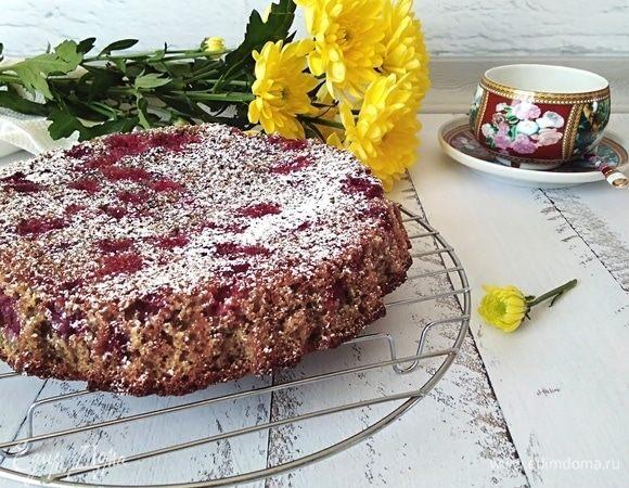 Пирог с вишней без муки
