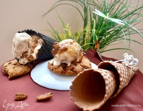 Карамельное мороженое с карамельными орешками