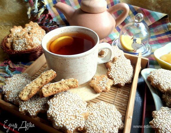 Печенье с кунжутом постное