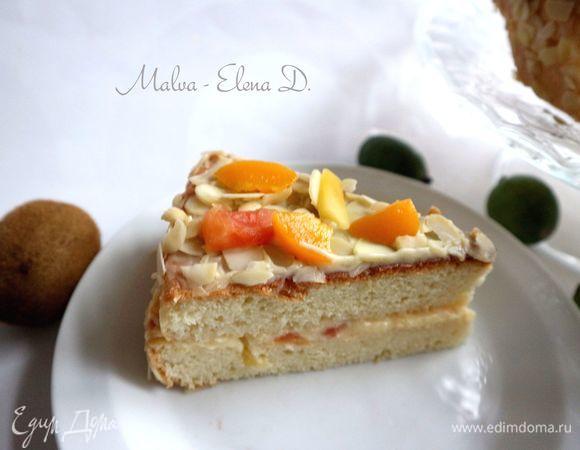 Бисквитный торт с кремом патисьер