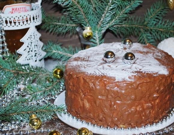 Торт с творожным суфле и фруктами