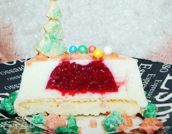 Муссовые пирожные с вишневым конфи