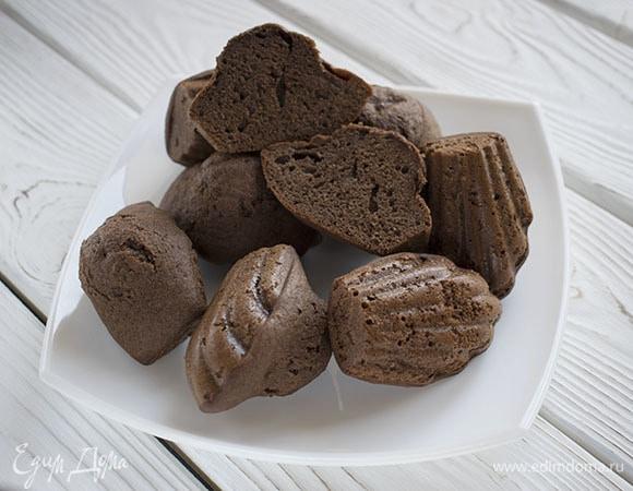 Шоколадное бисквитное печенье «Мадлен»