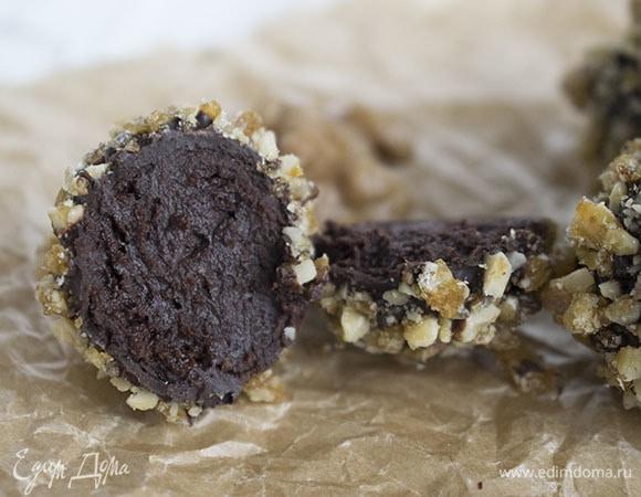 Шоколадные трюфели с сыром бри