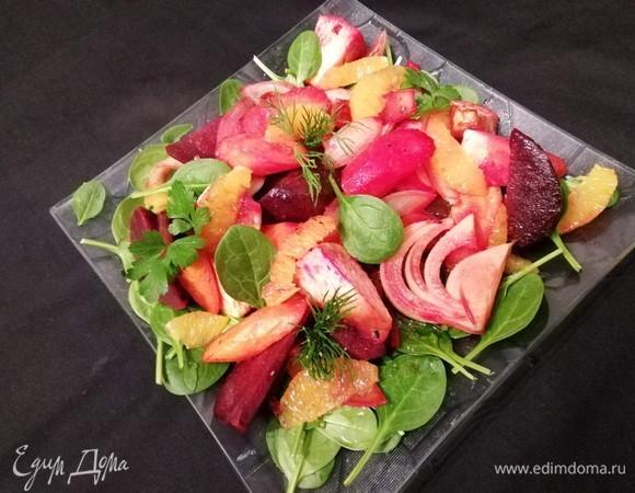Теплый зимний салат «Детокс»