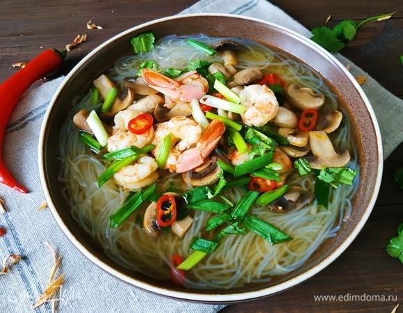 Острый креветочный суп