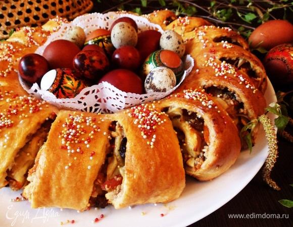 Пирог «Пасхальный венок»