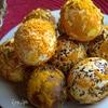Яйца в кокосовой шубке